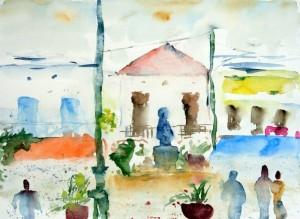 Am Dorfplatz von Georgioupoli