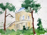 Sanssouci, Belvedere auf dem Klausberg (Aquarell ca. 60x40cm)