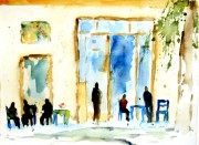 Das Kafenío als Wartesaal